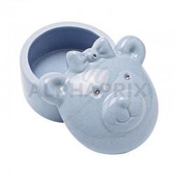 Boîte à dents ourson bleu en stock