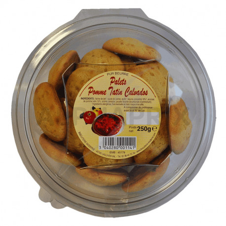 Palets pur beurre pomme tatin Calvados boîte 250 g