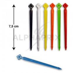 Pics plastique GM (7,5cm) pr polyst. x1000 couleur en stock