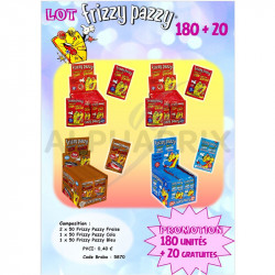 Lot frizzy pazzy dont 20 gratuits en stock