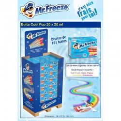 ~Box Mister Freeze Cool Pop 20ml - Display de 161 en stock