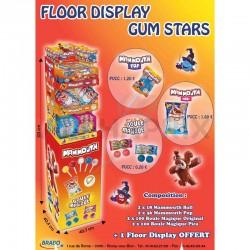 Floor Display Gum Stars en stock