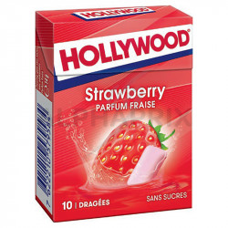 Hollywood dragées Strawberry Fraise Fresh sans sucre