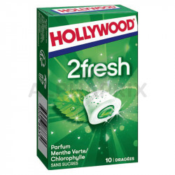Hollywood dragées 2fresh Menthe Verte/chloro s/sucres en stock