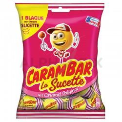 Sucettes carambar caramel sachet 84g