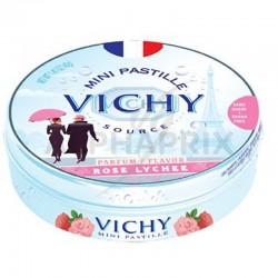 Vichy boîte métal rose litchi 40g en stock