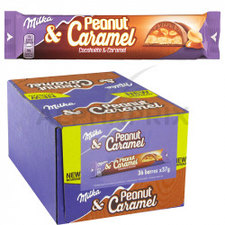 Milka barre peanut caramel 37 g en stock