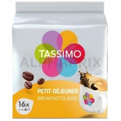 Tassimo Petit Déjeuner classique 128g (16t) en stock