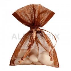 Pochon en organdi CHOCOLAT par 10 en stock