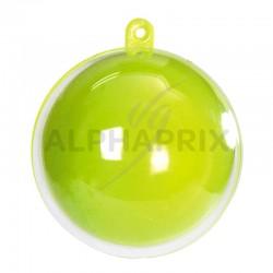 Boules plexi Couleur 5CM Anis/Transparente par 20 en stock