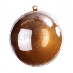 Boules plexi 5CM Couleur OR/Transparente par 20 en stock