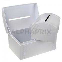 Urne/tirelire Duo de coffres Blanc en stock