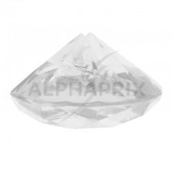 Marque-places Diamant transparent Diamant par 4 en stock