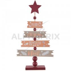 Sapin de Noël en bois CUIVRE et OR en stock