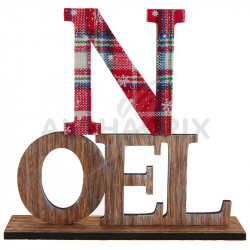 Lettres NOEL en bois sur socle en stock