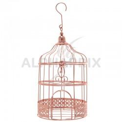 Cage en métal rose gold en stock