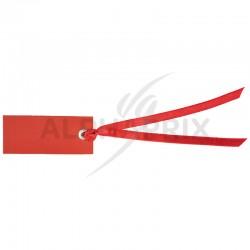Marque-places rectangle et ruban ROUGE par 12 en stock