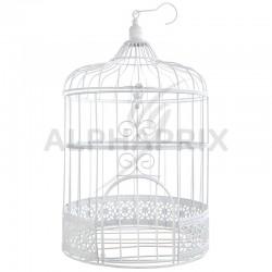 Cage à oiseaux en métal BLANC en stock