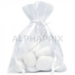 Grands sachets en organdi BLANC par 6 en stock