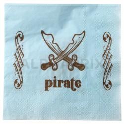 Serviettes de table Pirate par 20 en stock