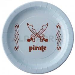 Assiettes Pirate par 6 en stock