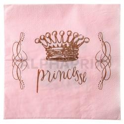 Serviettes de table Princesse par 20 en stock