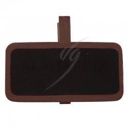 Mini ardoises Rectangulaire sur pince CHOCOLAT par 12 en stock