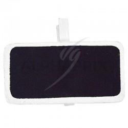 Mini ardoises Rectangulaire sur pince BLANC par 6 en stock