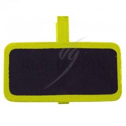 Mini ardoises Rectangulaire sur pince JAUNE par 12 en stock