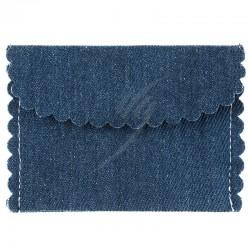 Pochette Jeans en coton par 4 en stock