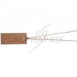 Marque-places rectangle et ficelle KRAFT par 12 en stock
