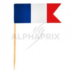 Piques drapeau de la France par 10 en stock