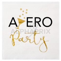 Serviettes APERO Party par 20 en stock