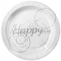 Assiettes Happy par 10 en stock