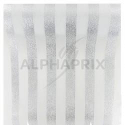 Chemin de table Rayures ARGENT/BLANC en stock