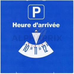 Disque de stationnement europeen zone bleue en stock