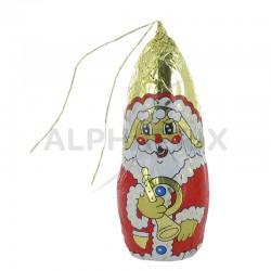Pères Noël avec attache s/alu 25g (10 cm) Jacquot
