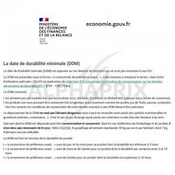 ~info sur la DDM (date de durabilite minimale) en stock
