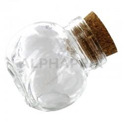 Mini bonbonnieres avec bouchon en liège par 12 en stock