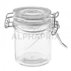 Confituriers en verre et fermeture en métal par 12 en stock