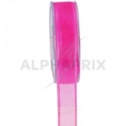 Ruban 9mm Cristal FUCHSIA - la bobine de 25 mètres en stock