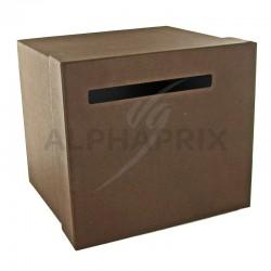 Urne / Tirelire unie CHOCOLAT 20,50 x 23cm en stock