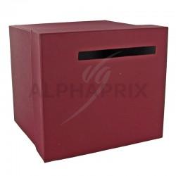 Urne / Tirelire unie BORDEAUX 20,50 x 23 x 20,50cm en stock