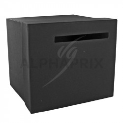 Urne / Tirelire unie NOIR 20,50 x 23 x 20,50cm en stock