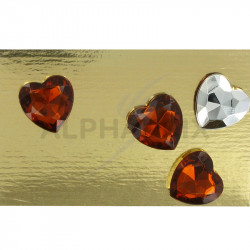 Coeur diamant 1,50cm chocolat par 24 en stock