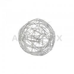 Boules 4CM en fil métal ARGENT - 12 pièces en stock