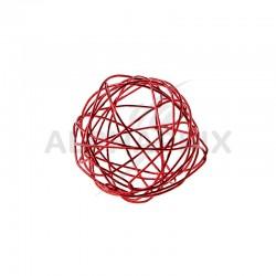 Boules 4CM en fil métal ROUGE - 12 pièces en stock