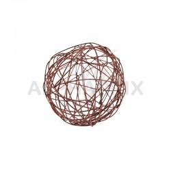 Boules 4CM en fil métal CHOCOLAT - 12 pièces en stock