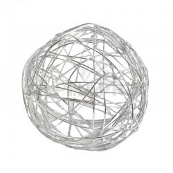 Boules 6CM en fil métal ARGENT - 6 pièces en stock