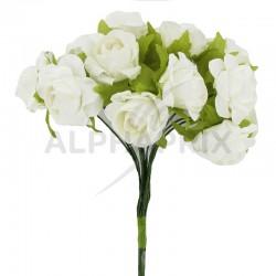 Roses sur tige BLANC - le bouquet en stock